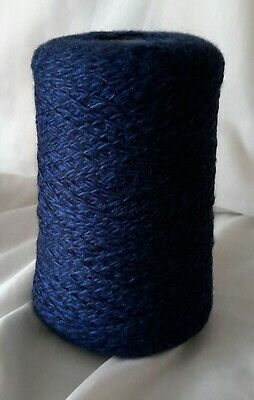 Cone 27 of 3ply Pure wool, in gorgeous Navy & Blue twist Weighing approx 396g