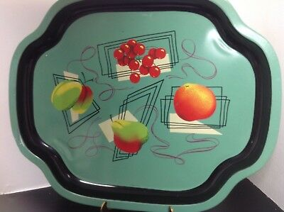 "Vintage Metal Tray Mid Century Modern ""Worcester Ware"""