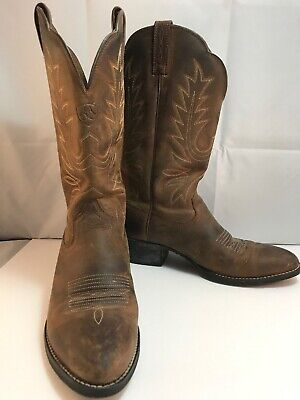 aed82de3c05 ARIAT WOMENS HERITAGE R Toe Cowboy Western Boot 7.5 B Brown 10001021 15725