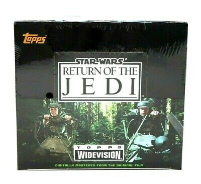 Star Wars Return of the Jedi Widescreen Factory Sealed Box Topps Trading Cards