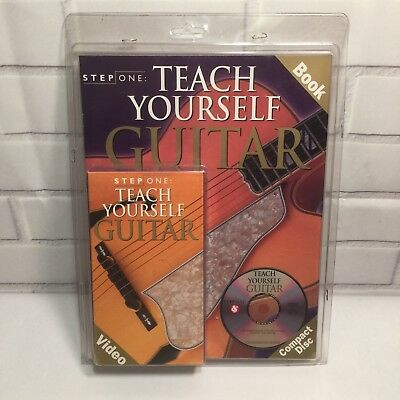 Step One: Teach Yourself Guitar Book + Video + Compact Disc