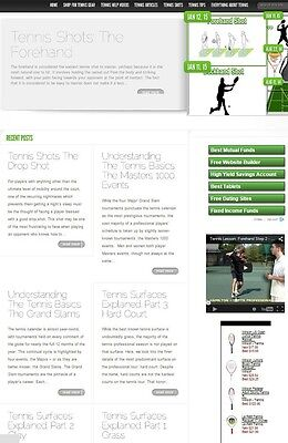 Tennis Blog Website Business For Sale! With Search Engine Friendly Content