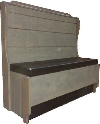 Rockford Single, R800S-48-42  Restaurant Booth, pad seat/ V grooved tapered back