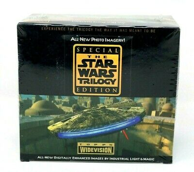 The Star Wars Trilogy Topps Trading Cards Widescreen Factory Sealed Box New