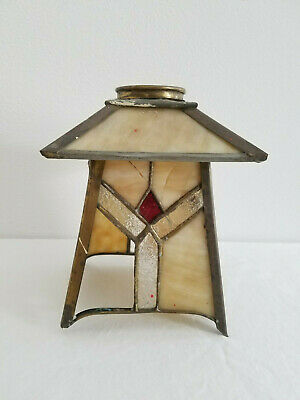 Antique* Arts & Crafts* Union made* light fixture* stained glass* as is/parts*