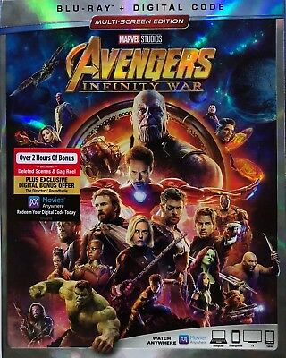 Avengers Infinity War(Blu-Ray+Digital Hd)W/slipcover New Unopened