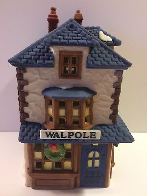 Dept 56 WALPOLE TAILORS Dickens Village 1988 1st Issue Lighted Retired Mint