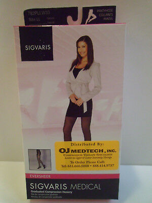Sigvaris 782PLLW33 20-30 mmHg Natural Eversheer Compression Pantyhose, Size LL