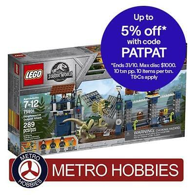 LEGO Jurassic World Dilophosaurus Outpost Attack 75931 Brand New Sealed