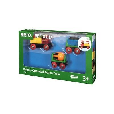 BRIO Battery Operated Action Train 33319 Brand New
