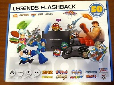 Legends Flashback HDMI Retro Game Console with 50 games Built In Ships FREE! E