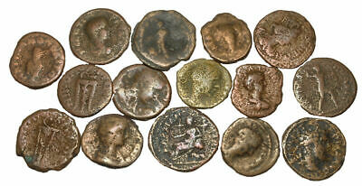 Group of 15 Ancient Roman Provincial Bronze Coins (001)