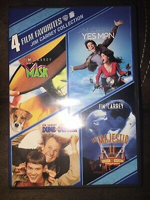 Used DVD - 4 Movies On 2 Discs: The Mask, Yes Man, Dumb & Dumber & The Majestic