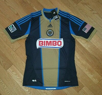 best authentic c5399 a2eff Adidas Philadelphia Union Authentic Formotion Jersey Men s Small Navy Gold  NWT