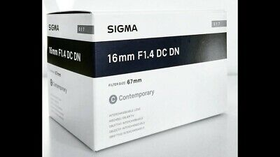 BRAND NEW Sigma 16mm f/1.4 DC DN Contemporary Lens for Sony E Mount