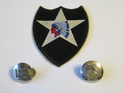 Cross Black Ballpoint Pen with WW1 2nd Infantry Divison Indian Patch emblems