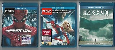 New Blu Ray Lot: The Amazing Spider-Man 1 & 2 + Exodus Gods and Kings