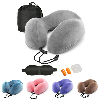 U-Shape Memory Foam Travel Pillow Neck Headrest Support Car Office Sleep Cushion