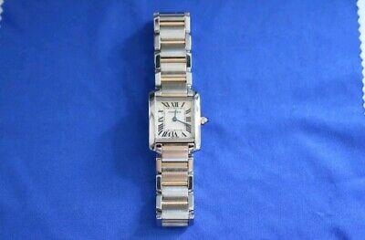 9dc00659d4f76 Auth Cartier Tank Francaise SM Watch W51007Q4 Quartz Stainless steel  Pre-owned