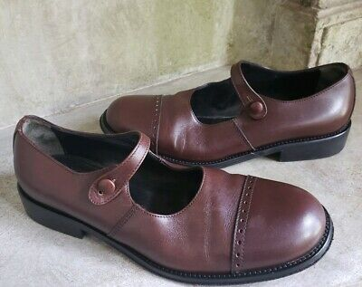 RIEKER WOMENS SHOES Size 5.5 36 Mary Jane Brown Leather