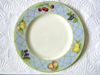 "Mikasa Optima FRUIT RAPTURE 12""  Easter Buffett Serving Cake Plate Platter"