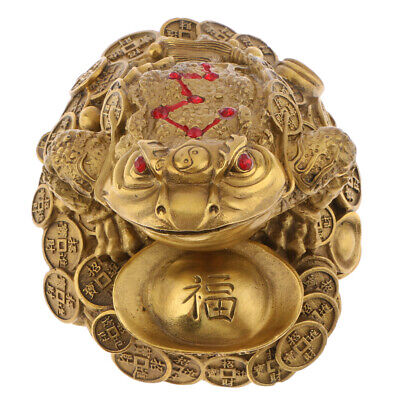 3 Legged Feng Shui Fortune Wealth Chinese Toad Coin Ornaments Lucky Gifts L