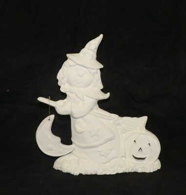 Ceramic Bisque Ready to Paint Paint your own HALLOWEEN  Sill Sitter Pumpkin