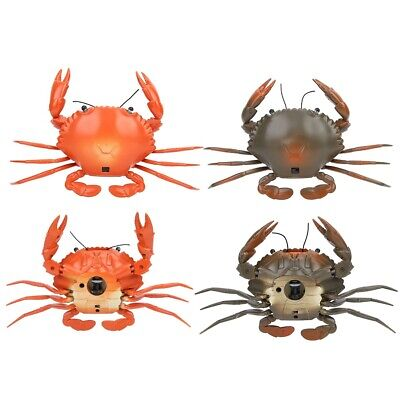 Simulation Plastic Operated Remote Control Crab Sea Animal Kids Toy Gifts SG