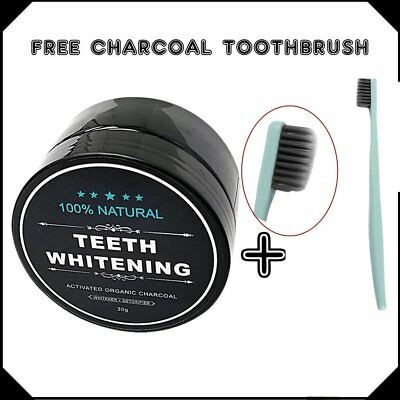 Activated Charcoal Teeth Whitening Organic Coconut Shell Powder Carbon Coco 3PZ