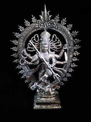 Shiva Nataraja Lord Of Dance Creator Bronze Brass Statue God Meditation  Art