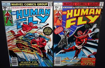 The Human Fly #2 #3 1977 9.2 (NM-);2-iss lot Ghost Rider appearance BV$15 45%Off