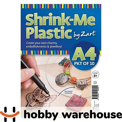 Shrink-Me Plastic A4 Clear 10 Pack