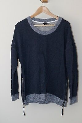 d7480236f2f  285 THEORY GRAY Crewneck Sweater Size Small Donners C Cashmere 2 ...