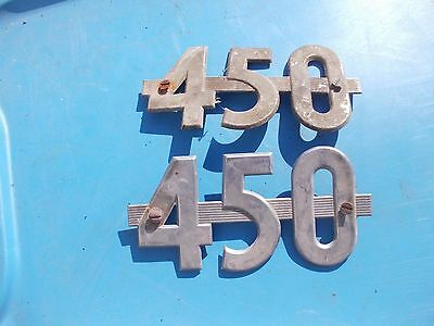 Farmall 450 Tractor IH 4-5-0 Chrome hood side emblem emblems pair set of (2) emb