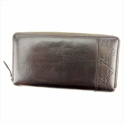 aae4a6f6afc Gucci Wallet Purse Guccissima leather Brown Woman Authentic Used T8320