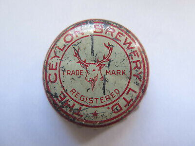 RARE CROWN SEAL BEER BOTTLE CAP THE CEYLON BREWERY Ltd STAG PICTURED c1950s