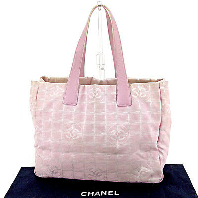 d5a0c76ed129 Chanel Tote bag New travel line Pink Gold Woman Authentic Used T4487