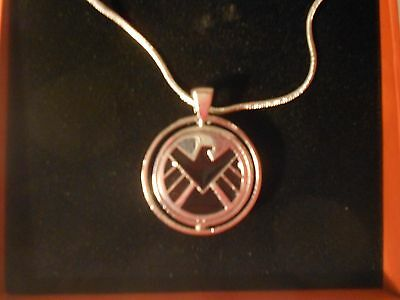 NEW in Gift Box SHIELD VS Hydra 2 Sided Spinner Necklace Agents of S.H.I.E.L.D.