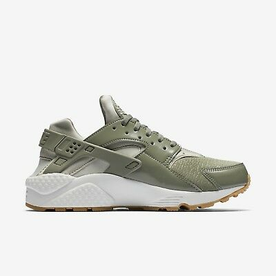 100% authentic 77c4e c6fa5 WOMEN'S NIKE SIZE 8 Huarache Run Olive Green Presto/Stucco Gum Bottom  634835-027