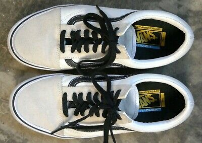00ac9ebc2bbfa0 VANS 50th ANNIVERSARY OLD SKOOL SCHOOL PRO  92 SHOES MENS 11.5 WHITE BLACK