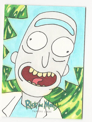 Rick and Morty Season 1 2018 Cryptozoic Sketch Card by David Angelo Roman 1/1