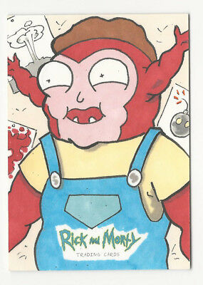 Rick and Morty Season 1 2018 Cryptozoic Sketch Card by Tom Crielly 1/1