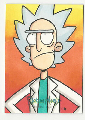 Rick and Morty Season 1 2018 Cryptozoic Sketch Card by Mike Hartigan 1/1
