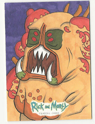 Rick and Morty Season 1 2018 Cryptozoic Sketch Card by Unknown Artist 1/1