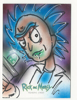 Rick and Morty Season 1 2018 Cryptozoic Sketch Card by Bianca Thompson 1/1