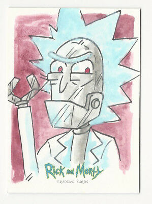 Rick and Morty Season 1 2018 Cryptozoic Sketch Card by Kate Carleton 1/1