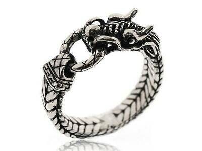 Vintage Mens 925 Sterling Silver Gothic Dragon Claw Rings For Mens, Size 5-12
