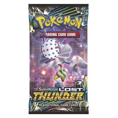 4 x Pokemon Trading Card Game - Sun & Moon Lost Thunder Booster Pack  - UK Selle