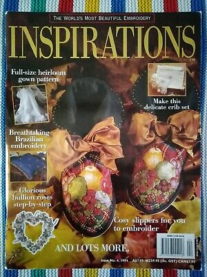 Inspirations Embroidery Magazine - Issue 4 -- 1994 - Excellent Condition