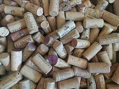 100 used wine corks - all cork, no synthetic, no champagne